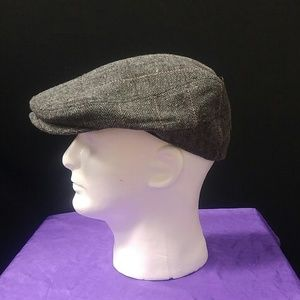 48a9c335f89 BRUNO CAPELO Accessories - IVY CAP HERRINGBONE COLLECTION GREY